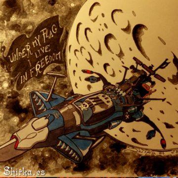 Arcadia Captain Harlock Ink fan Art by Shirka