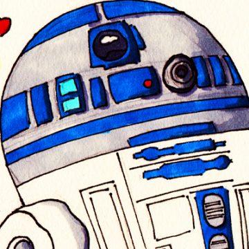 R2D2 C3PO shirka